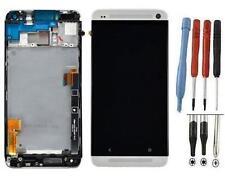 ECRAN LCD + VITRE TACTILE SUR CHASSIS BLOC COMPLETE POUR HTC ONE M7 ARGENT NEUF