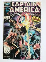 Captain America Annual #8 - 1986 Wolverine 1st Overrider TESS-One Marvel Comics