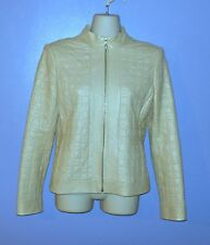 Spectacular St. John Collection Signature Leather Jacket! Silk Lined Size 2