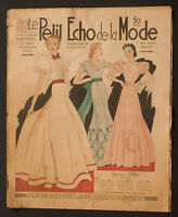 'ECHO DE LA MODE' FRENCH VINTAGE NEWSPAPER 19 DECEMBER 1937