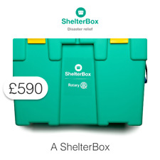 £590 Charitable Donation For: A full ShelterBox