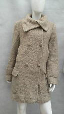 LADIES NEXT 58% WOOL BOBBLE KNIT / THICK PILE LINED WINTER COAT SIZE 16