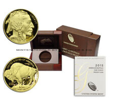 2015-W $50 Gold Buffalo Proof w/ Mint Box and CoA uncirculated 24kt 1 ounce coin