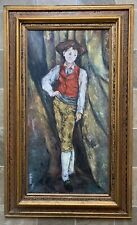 Yuliang Pan (1895 – 1977) French-Chinese Artist Oil Painting Signed