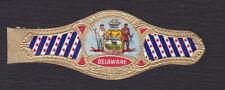 Ancienne Bague de Cigare Vitola  BN122908 Ecusson Etats Unis Delaware