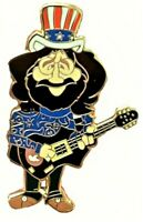 "Grateful Dead Pin Jerry Garcia Uncle Sam Lapel Pin 1"" 1/2 inch"