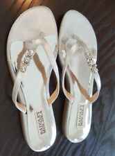 Badgley Mischka silver sandals with rhinestones Sz 6.5 Ret $99