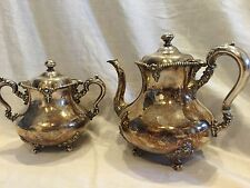 Antique 1800s Rogers  Smith & Co Meriden Ct Tea Pot And Waste Bowl Pattern 2027