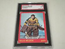 GILLES MELOCHE AUTOGRAPHED 1973-74 O-PEE-CHEE OPC CARD-SGC SLAB-ENCAPSULATED