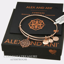Authentic Alex and Ani Compass (iii) Rose Gold Charm Bangle