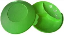 Brand New Tupperware Divided Plate With Lid- Free Shipping -green Color