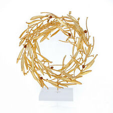Olive Wreath - Real Natural Plant - Handmade 24k Gold Plated - Large