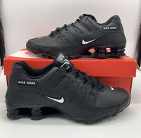 Nike Shox NZ EU Casual Shoes Triple Black White 501524-091 Men's NEW