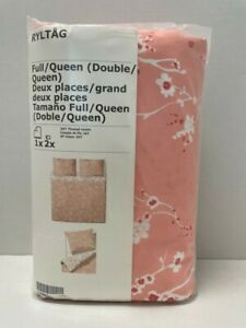 Ikea RYLTAG Full/Queen Duvet cover and pillowcases pink - NEW