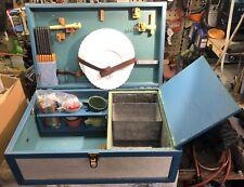 Vintage Picnic Set Auto Suitcase Style No Makers Name