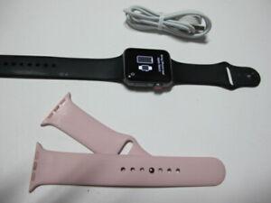 Apple Watch Series 3 42mm space gray Aluminium Sport Band (GPS + cellular)