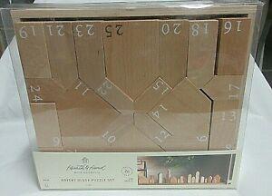 Magnolia Hearth Hand Advent Block Puzzle Set Countdown Calendar Wooden Joanna
