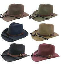 100% Cotton Canvas Cowboy Western Fedora Outback Ranger Bucket Hat Cap