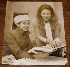MARGOT FONTEYN VANESSA REDGRAVE NEWSPAPER PRESS PHOTO PHOTOGRAPH WITH STAMPS
