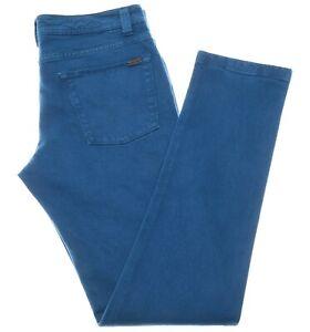 Loro Piana 5 Tasche Slim Jeans Cotton Size 33 Teal Blue 04JN0131 $625