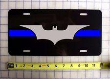 THIN BLUE LINE BATMAN CUSTOM LICENSE PLATE POLICE LAW ENFORCEMENT