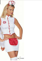 SALE! LEG AVENUE NAUGHTY NURSE FANCY DRESS COSTUME S/M UK 8-10 COSPLAY ANIME