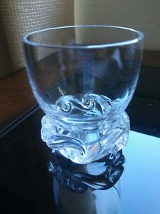"RARE Baccarat Crystal 1952 Aladdin 2 3/4""   Whiskey Shot Glass France Signed"