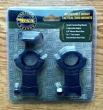 """BSA STS Tactical Scope Rings Adjustable Height 5/8"""" Weaver Rings Steel STSTRA"""