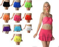 Ladies Girls Neon RARA Mini Short Skirt Dance Club Fancy Women All Sizes S - XL