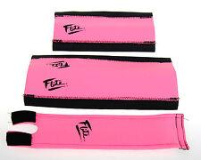 FLITE NEO mid school BMX neoprene foam padset pads PINK W/ BLACK 80's LOGO