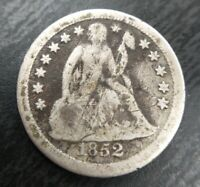 1852 O Seated Liberty Silver Dime- VG Very Good Details Damaged Key Date