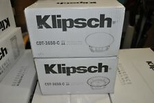 Klipsch CDT-3650C II In-Ceiling Speaker PAIR MSRP:$600