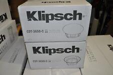 Klipsch CDT-3650C II In-Ceiling Speaker EACH MSRP:$300