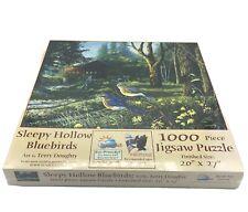 Sunsout Puzzles Sleepy Hollow Bluebirds 1000 Piece Jigsaw Puzzle Factory Sealed