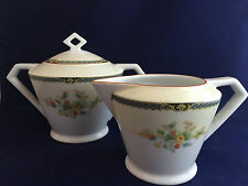 Vintage Nortiake China Nippon Toki Kaisha Cream and Sugar Bowl Japan