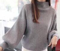 Sweet New Women Girl Korean Winter Fall Long Sleeve Sweater Knit Tops Bat shirt