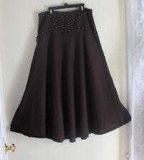 ICE -Sz 6 Fabulous Funky Art-to-Wear Rich Very Long Lagenlook Full Artsy Skirt