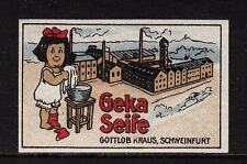 45155/publicitarias marca-GEKA jabón-por fortuna Kraus-Schweinfurt