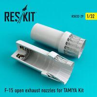 F-15 open exhaust nozzles for TAMIYA  (Resin Upgrade set) 1/32 ResKit RSU32-0029