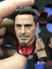 Buring Soul 1/6 Iron Man Captain America:Civil War Tony Head Sculpt W Collars