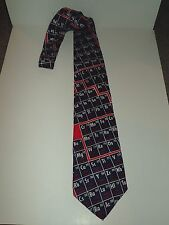 THE ELEMENTS PERIODIC TABLE CHEMISTRY SCIENCE Ralph Marlin Silk Necktie RARE!