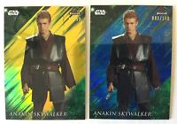 ANAKIN SKYWALKER - 2018 Topps STAR WARS Finest PARALLEL GOLD/BLUE - LOT of 2!!