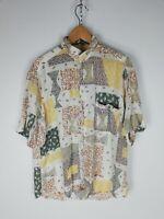 BARISAL Camicia VINTAGE MADE IN ITALY Maniche Corte Shirt Maglia Hemd Tg L Uomo