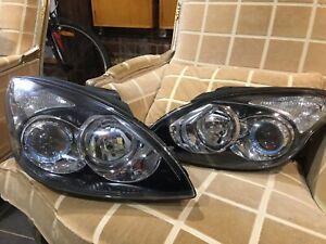 OEM Genuine Hyundai i30 FD SET Front Headlight Black Insert Left Right 08 - 12