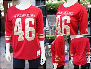 Victoria's Secret PINK NFL San Francisco 49ers Shirt Light Sweatshirt Stitched