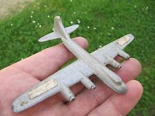 avion aluminium alu. avion de ligne. maquette. jouet ancien hélice.  9 x 12,7cm.