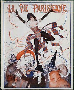 1922 Art Deco La Vie Parisienne magazine sensual Georges Pavis - Leo Fontan