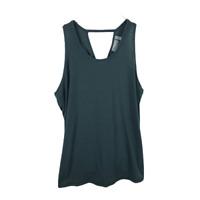 Athleta Womens Essence Back Tie Tank Size S Green Sleeveless Scoop Neck Top