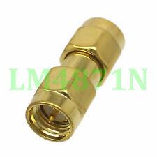 10pcs Adapter SMA male to SMA male plug RF connector gold plating RTL-SDR Radio