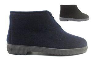 Pantofole ciabatte da uomo alte invernali con cerniera calde antiscivolo italia